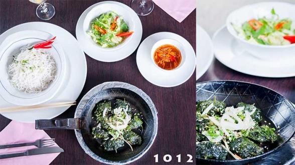 1012 bun bo la lot rindfleisch in lotbl ttern auf heisser platte asia restaurant stuttgart. Black Bedroom Furniture Sets. Home Design Ideas